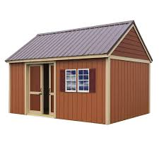 Tuff Shed Home Depot Cabin by Handy Home Products Installed Meridian Deluxe 8 Ft X 12 Ft Wood