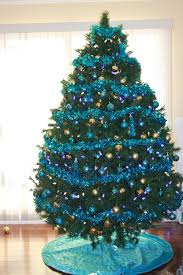 Christmas Tree Decorations Ideas 2014 by Christmas Tree With Blue Decorations Home Design Inspirations