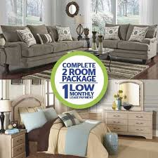 aaron s 2 room package 7 pc mello living room collection and 9 pc