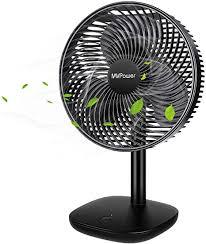mvpower akku ventilator leise handventilator 5000 mah wiederaufladbare batterie tischventilator tragbar 4 geschwindigkeiten mit 1 05m kabel für