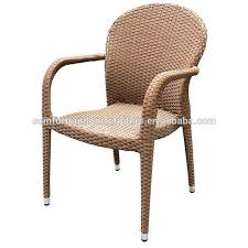 outdoor indoor use pe rattan armrest chair photo detailed