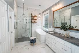 Custom Shower Remodeling And Renovation Marble Bathroom Before After Irwin Construction