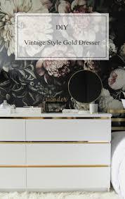 Tool Box Style Dresser by Malm Vintage Style Gold Dresser Ikea Hackers Ikea Hackers
