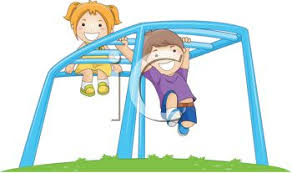 Royalty Free Clipart Image Kids Playing On A Playground Monkey Bars