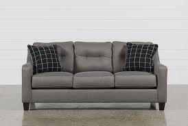Levon Charcoal Queen Sofa Sleeper by Brindon Charcoal Queen Sofa Sleeper Living Spaces