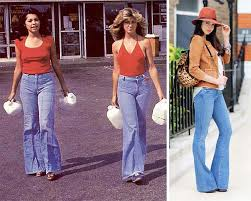 Denim Flares Then And Now Fashion The 70s Check It Out At