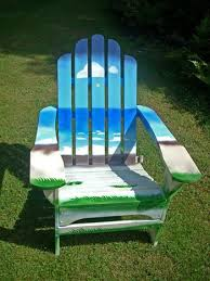 Custom Painted Margaritaville Adirondack Chairs by Painted Adirondack Chair Sold For 425 Funky Patio Ideas