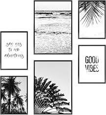 heimlich premium poster set stilvolle foto und zitatdrucke heimdeko tolle wanddekoration für wohnzimmer und schlafzimmer 2x11x17 und 4x8 5x11