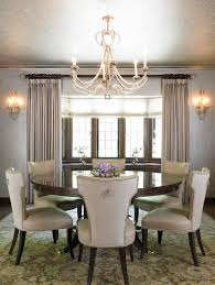 Monogrammed Dining Room Chairs Traditional With Floral Rug Light Blue Walls Crystal Chandelier