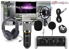 Home Recording Pro Tools Software Tascam Interface Bundle Studio Package