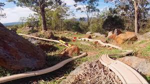 wooden toy train set in australian bush toy train track 35 youtube