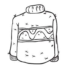 Hand Drawn Ugly Sweater Merry Christmas Pattern Clip Art