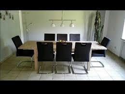 esszimmer tisch mit 2 ansteckplatten 8 stühlen sideboard