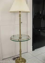vintage stiffel brass floor l glass table hollywood regency mid