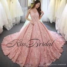 Big Ball Gown Color Wedding Dresses Vintage Full Lace Arabic Dubai