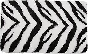 badematte im zebra design siehe beschreibung schwarz weiß