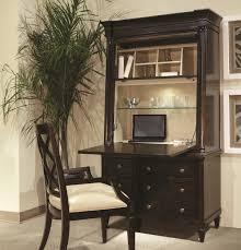 furniture oak wood secretary desk with hutch on cozy parkay floor