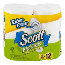 45 Ft Bathroom by Scott Tube Free Unscented Bathroom Tissue 4 Rolls Walmart Com