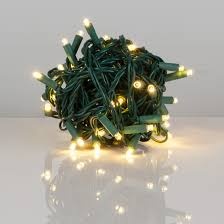50 Warm White Outdoor LED Christmas Tree Lights Mini 5MM