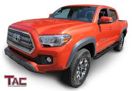 Amazon.com: TAC Side Steps Fit 2005-2019 Toyota Tacoma Double Cab ...