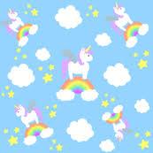 Playful Unicorns And Rainbows Wallpaper