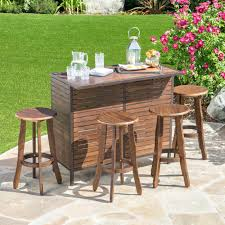 Outdoor Patio Bar Table Dining Sets Height Set Pub Tables ...