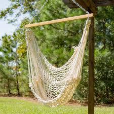 Pawleys Single Cotton Rope Hammock Swing
