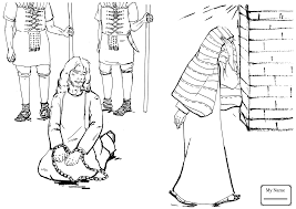 Jesus In Chains And Peter Passing By Saint Christianity Bible Coloring Pages