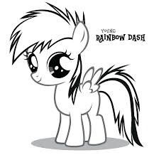 My Little Pony Coloring Pages Rainbow Dash With Baby