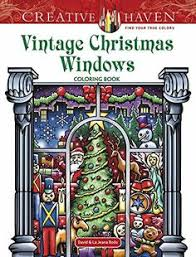 Creative Haven Vintage Christmas Windows Coloring Book A