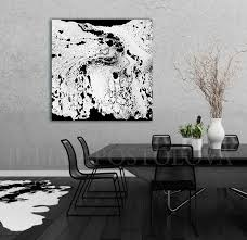 Modern Black And White Abstract Print Ready To Hang Large Wall Art
