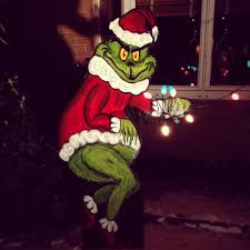 Grinch Outdoor Christmas Decorations by Christmas Grinch Stealingtmas Lights 5541906 Orig