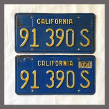 100 Truck License 1970 1971 1972 1973 1974 1975 1976 1977 1978 1979 1980 California