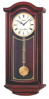 Amazon Seiko Wall Pendulum Clock Mahogany Finish Solid Wood Case Watches
