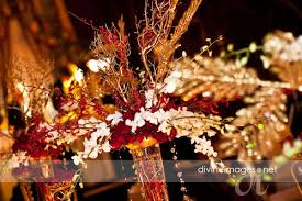 Gold And Red Centerpiece