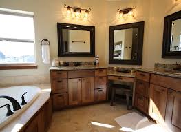 Small Bathroom Vanities With Makeup Area by Bathrooms Rocca Custom Homes