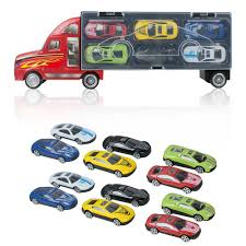 100 Toy Car Carrier Truck Kids Transport Rier Boy Includes 12 Cars