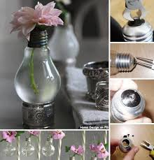 DIY Light Bulb Flower Vase Tutorial Step By
