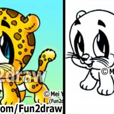 How To Draw Cartoon Characters How To Draw A Baby Jaguar Cute Art