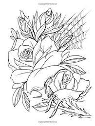 Creative Haven Floral Tattoo Designs Coloring Book Books Erik Siuda