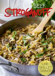 This One Skillet Ground Beef Stroganoff Is A Quick Weeknight Dinner Recipe That My Whole Family