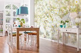komar fototapete daisies 368 x 254 cm tapete wand dekoration blume blüten margeriten natur wiese schlafzimmer wohnzimmer 8 994
