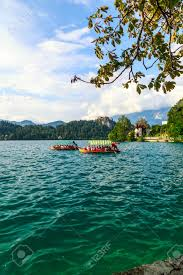 100 Where Is Slovenia Located Traditional Pletna Boats And Tourists In The Lake Bled