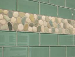 want bold colors install blue glass subway tile backsplash