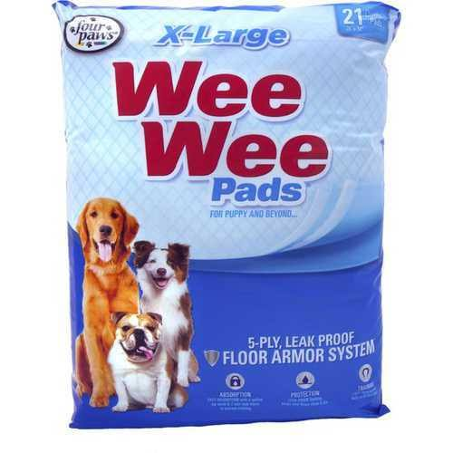 Four Paws Wee Wee Pads for Puppies, Assorted Color, XL