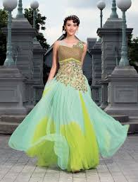 affordable party gown online shopping india ready made green