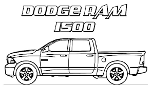 Dodge Car Ram 1500 Trucks Coloring Pages