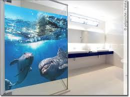 passgenaues glasbild mit delphinen fürs badezimmer