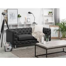 Viland Faux Leather Sofa With 2 Seater Black Or White