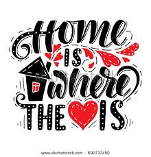 Home Is Where The Heart IsHand Drawn Illustration With Hand Lettering